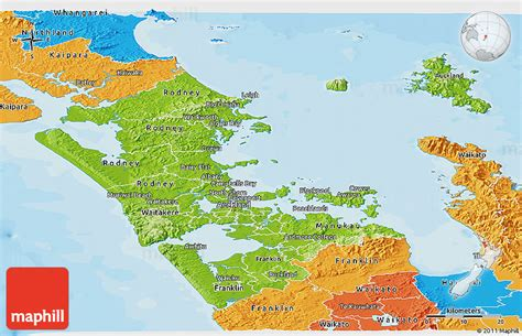 new zealand physical map physical panoramic map of auckland political outside
