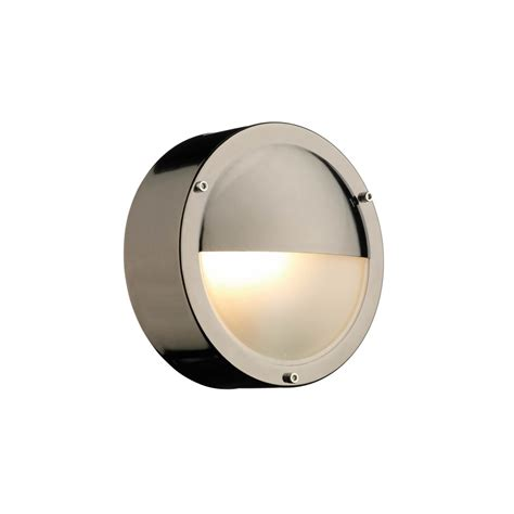 Dar Lighting TAH5067 Tahoe Round Eyelid Outdoor Wall Light In Black Chrome Dar Lighting from