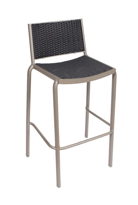 Outdoor Wicker Bar Stool Outdoor Aluminum Frame Synthetic Wicker Bar Stool Cocoa
