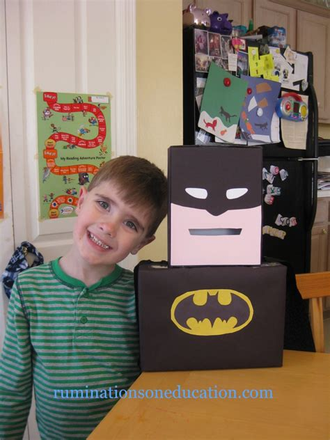 batman valentines day box 10 classroom collection boxes everyday