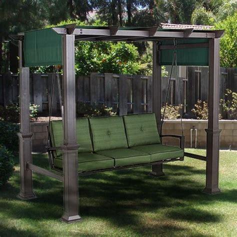 outdoor patio pergola swing replacement canopy garden