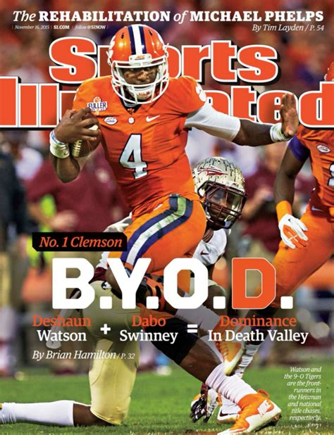 Clemson Football Memes - photo deshaun watson on cover of sports illustrated