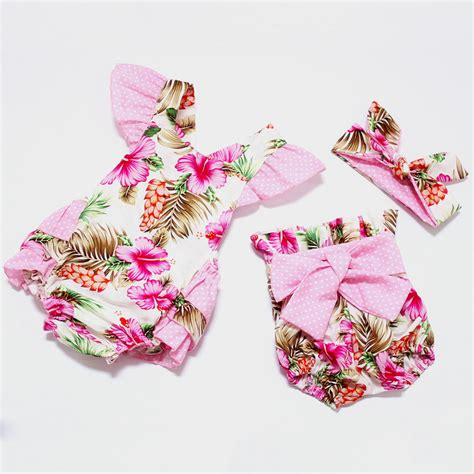 2016 new style baby fashion dress clothes headband 2016 new style baby romper summer boutiques baby