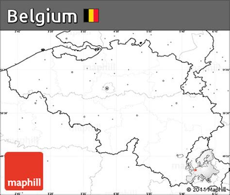 blank map of belgium free blank simple map of belgium no labels