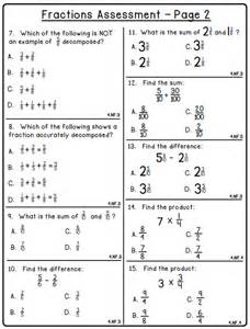 5 best images of fraction test printable with answer