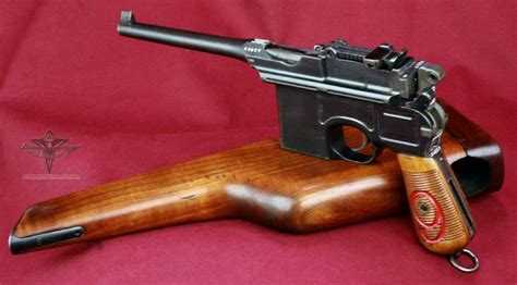 the broomhandle mauser weapon 1472816153 1916 red 9 c96 broomhandle 9mm if i had the money guns weapons and revolvers
