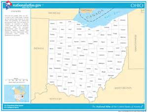 interactive county map ohio state maps interactive ohio state road maps state