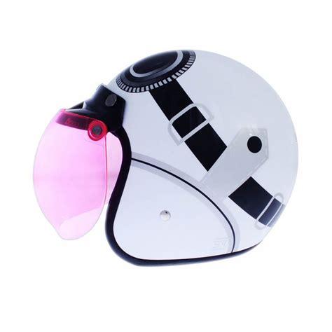 Wto Helmet Retro Bogo Kacamata jual wto helmet retro bogo kacamata putih helm half