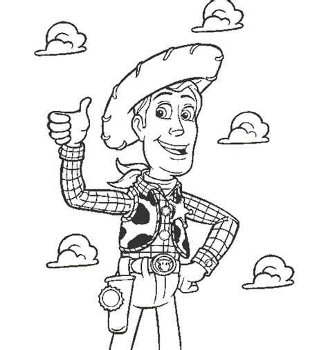 imagenes para colorear woody toy story woody de toy story para colorear