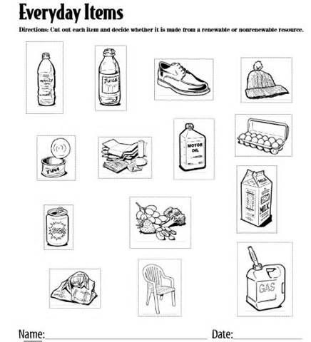 renewable and nonrenewable resources worksheet humorholics