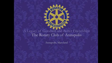 Annapolis Rotary Club Invitation Youtube Club Wedd Invitation Templates