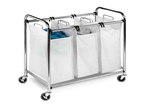 Rolling Laundry Basket With Stainless Material Stroovi Rolling Laundry