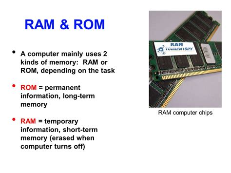 information of ram basic computer vocabulary ppt