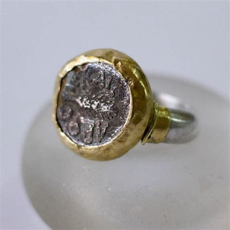 ancient coin ring silver and gold coin ring ancient jewelry