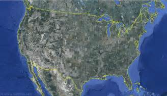 satellite map of united states