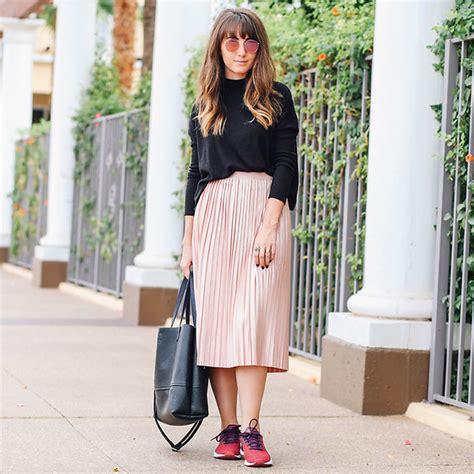 pleated skirt lookbook