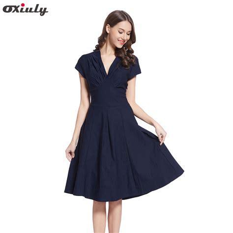41316 V Neck Elegance Sml Dress oxiuly a line dress summer v neck formal bodycon dress sleeve