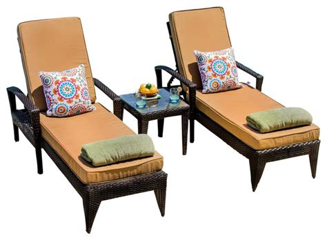 Two Person Chaise Lounge Providence 2 Person Wicker Chaise Lounge Set Midcentury Outdoor Chaise Lounges By