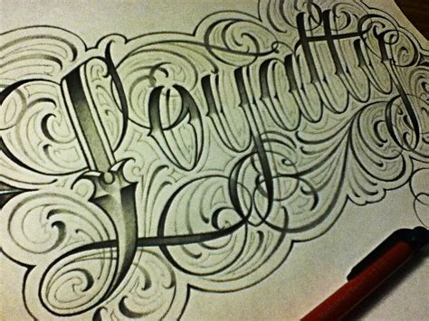 loyalty fancy cursive tattoo style letters youtube