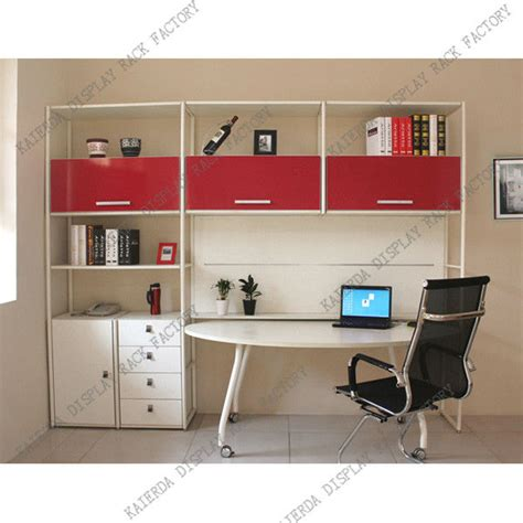 modern study design bookcase with study table view