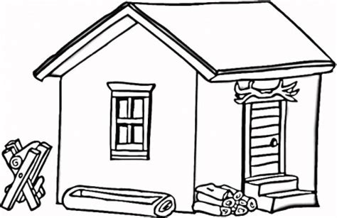 cottage house coloring page cottage coloring pages 2