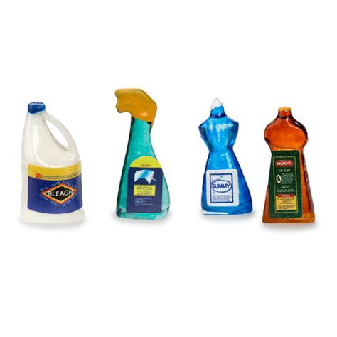 dollhouse clean miniature dollhouse cleaning supplies 1 12 scale set of 4