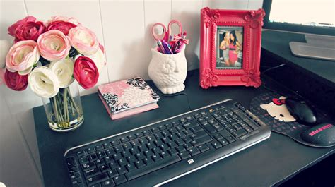 Decorate Your Office Desk Room Decor Office Desk Space Tour And Ideas