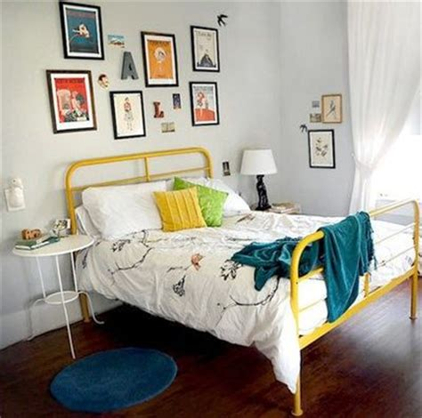 Yellow Painted Bed Frame This Would Be Fun To Find P Yellow Bed Frame