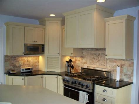 painted kitchen cabinets with stained doors quicua
