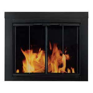 pleasant hearth ascot fireplace glass door for masonry
