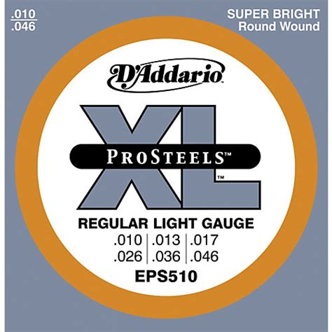 light electric guitar strings d addario eps510 prosteels light electric guitar strings
