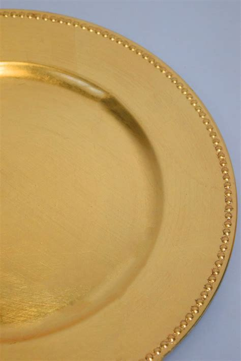 Gold Beaded Charger Plate (13 Inch) on sale from