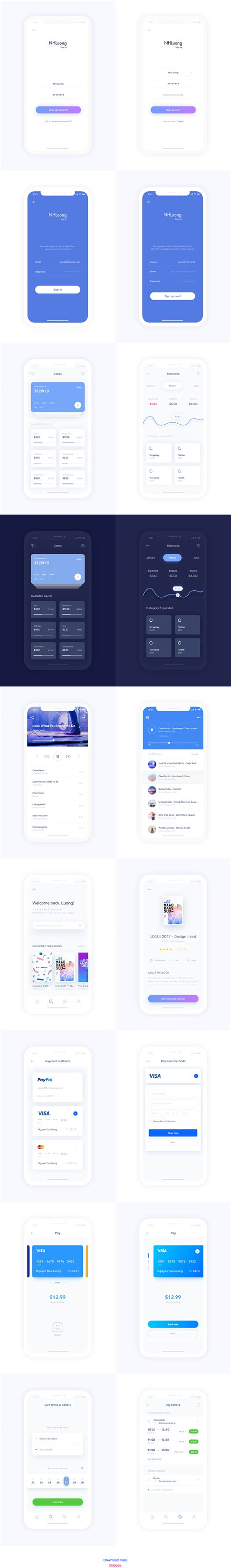 Adobe Xd Mobile Apps Uxfree Com Adobe Xd App Templates