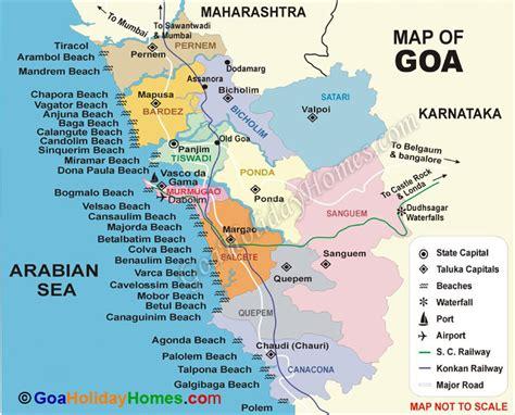 resort goa map map of goa