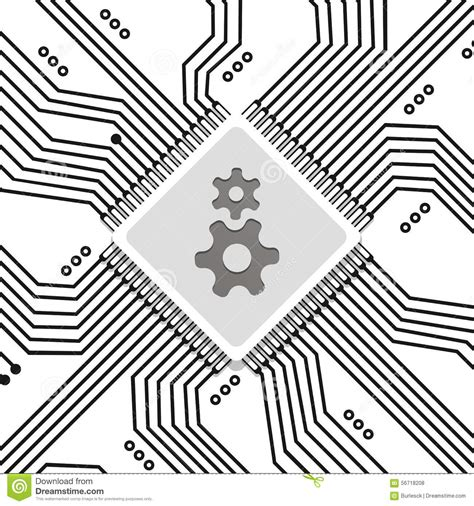 integrated circuit chip clipart microchip circuit vector background stock vector image 56718208