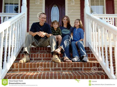 Family Porch family on front porch royalty free stock images image 7223429