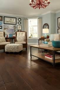 Floor And Home Decor Love The Ottoman And Dark Wood Floor And Wall Color
