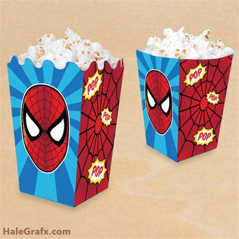 printable spider man popcorn box