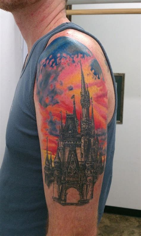 disney cinderella castle tattoo tattoos pinterest