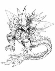 space godzilla coloring pages ultimate space godzilla coloring page free printable