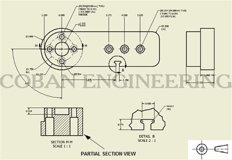 iso section technical drawings views detail view broken out section