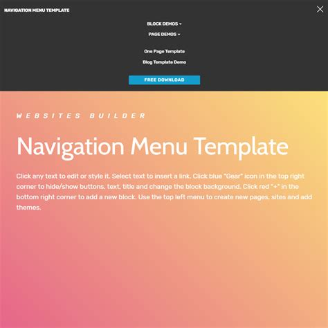 design navigation menu item 39 brand new free html bootstrap templates 2018