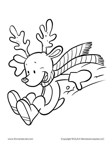 reindeer coloring page tims printables