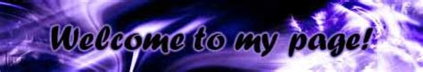 welcome to my page animation blue animated welcome to my page text myspace extended