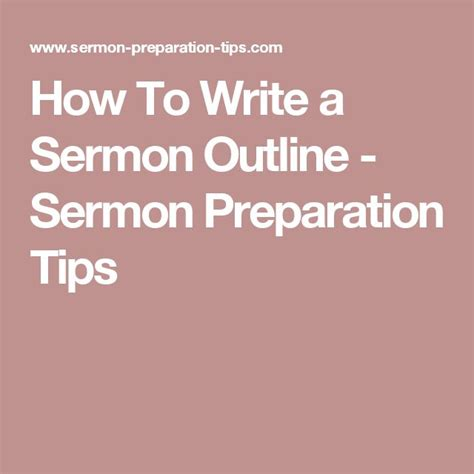 Prepare Sermon Outline by 9 Best How To Write Sermon Outlines Images On Outlines Bible And Biblia