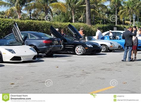 Parking Lot Car luxury sports cars in parking lot editorial photography