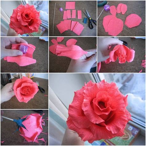 How To Make Paper Roses Step By Step With Pictures - how to make paper flowers at home