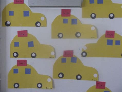 and craft world class lesson t is for taxi preschool craft