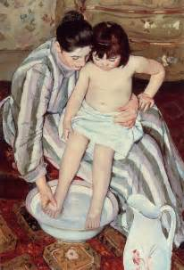 Bath Painting by The Child S Bath 1893 Painting Mary Cassatt Oil Painting