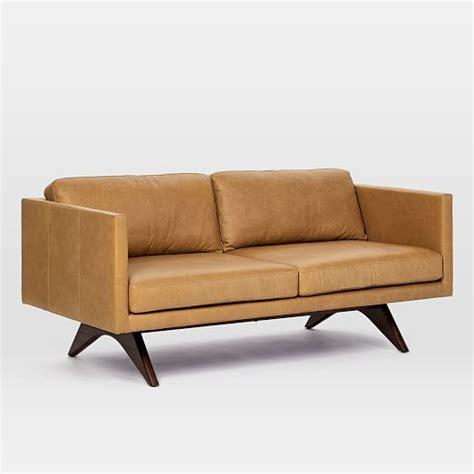 west elm brooklyn sofa brooklyn leather sofa 74 quot west elm